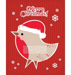 Christmas postcard with bullfinch vector image