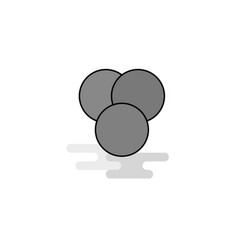 circles web icon flat line filled gray icon vector image