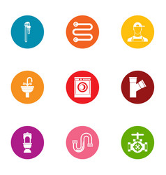 Clog icons set flat style vector