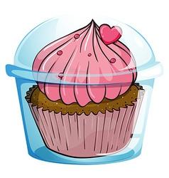 Close up cupcake vector