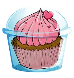 Close up cupcake vector image