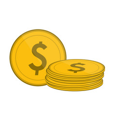 coins money cartoon vector image
