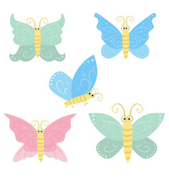 collection of flying butterflie collection of vector image