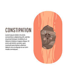 constipation symptom health care and medical vector image