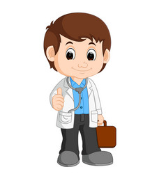 Cute doctor cartoon vector