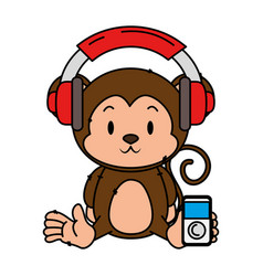 cute little monkey character vector image