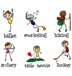 Different sports activity vector image