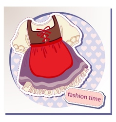 Dress for girls vector