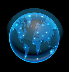 earth globe world blue vector image