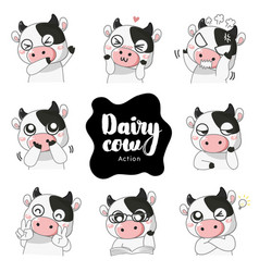emotion cow vector image