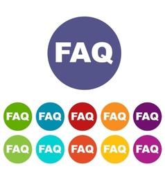 Faq flat icon vector