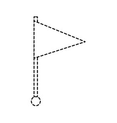 flag pin location marker web symbol vector image