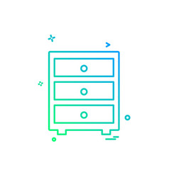 furniture icon design vector image