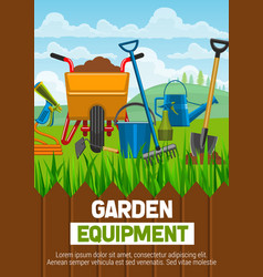 gardening equipment and farming tools vector image