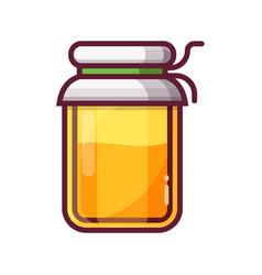 glass jam or honey jar icon vector image