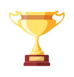Gold award in form goblet on small stand vector