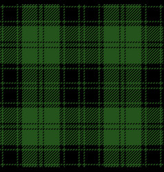 Green and black tartan plaid seamless pattern vector