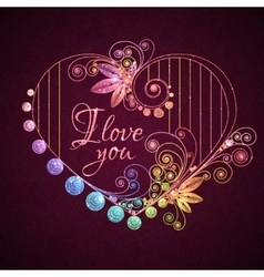 Happy valentine day Heart with title vector image
