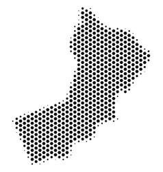Hexagon oman map vector