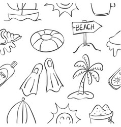 Holiday object summer doodles vector