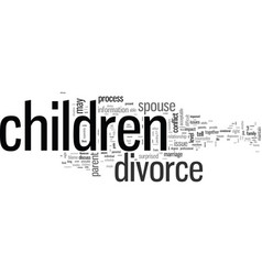 How to tell your children about divorce vector