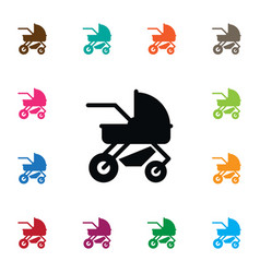 Isolated perambulator icon carriage vector