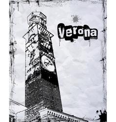Lamberti Tower in Piazza Signori vector image