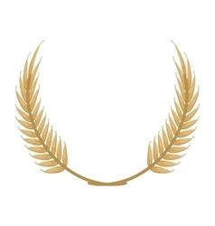 Laurel wreath icon vector