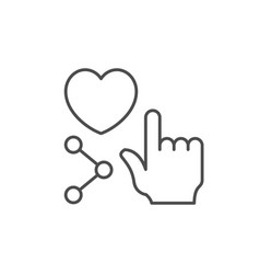 like button line outline icon vector image