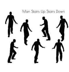 Man in Stairs Up Stairs Down pose vector