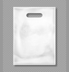 Mockup white plastic bag vector