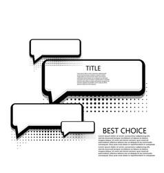 modern halftone bubble speech icons vector image