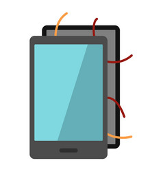 Opened phone icon isolated vector