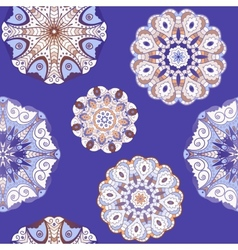Oriental seamless pattern with circle ornaments vector image