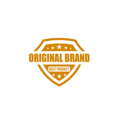 Original brand best products shield vector