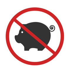 pigs forbidden sing vector image