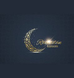 ramadan greetings background luxury gold vector image