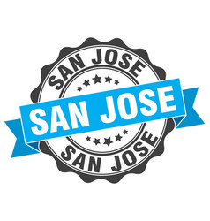 San jose round ribbon seal vector