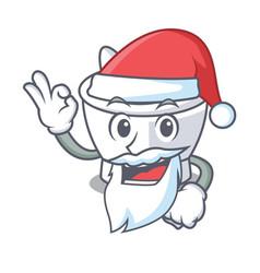 Santa mortar mascot cartoon style vector