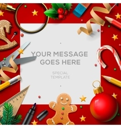 School holidays christmas break poster vector