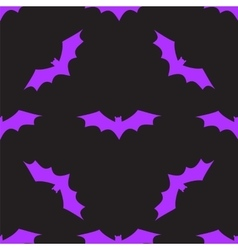 Seamless background with bats vector image