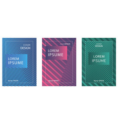 Set of booklets with geometric lines and gradient vector
