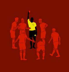 soccer referee yellow red cards design wallpaper vector image