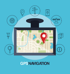 Tablet with gps application vector