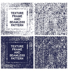 Texture frame and seamless pattern vector