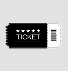 ticket icon cinema ticket flat on gray background vector image