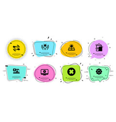 Timer ranking and recovery gear icons set sun vector