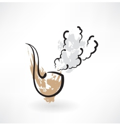 tobacco pipe grunge icon vector image