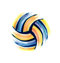 Volleyball brush background vector