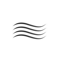 water wave logo design template water icon aqua vector image